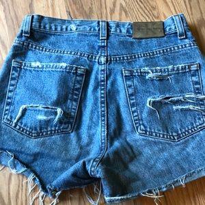 Calvin Klein high low denim jean shorts size 2